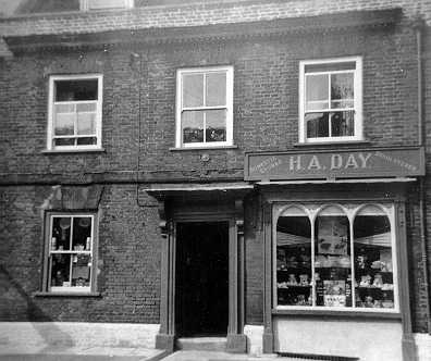 Photograph of H.A. Day's shop, West Street, Wareham, Dorset